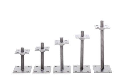 pt250 pfostentr ger h henverstellbar aus edelstahl 25 250mm. Black Bedroom Furniture Sets. Home Design Ideas