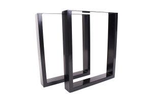 TUs 100x40 Stahl schwarz glanz (Profil 10x4cm)