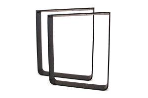 TGFsms 100x10 Vollmaterial Flachstahl rund gebogen Stahl schwarz matt Struktur (Profil 10x1cm)