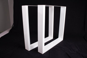 TUwms 100x40 Stahl weiß matt Struktur (Profil 10x4cm)
