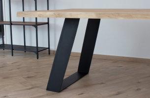 TGFesms 150x10 Trapez schräg Vollmaterial Flachstahl eckig Stahl schwarz matt Struktur (Profil 15x1cm)