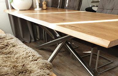 Tischuntergestell MIRONDO aus Edelstahl für Esstisch und Couchtisch - Tischuntergestell MIRONDO aus Edelstahl für Esstisch und Couchtisch