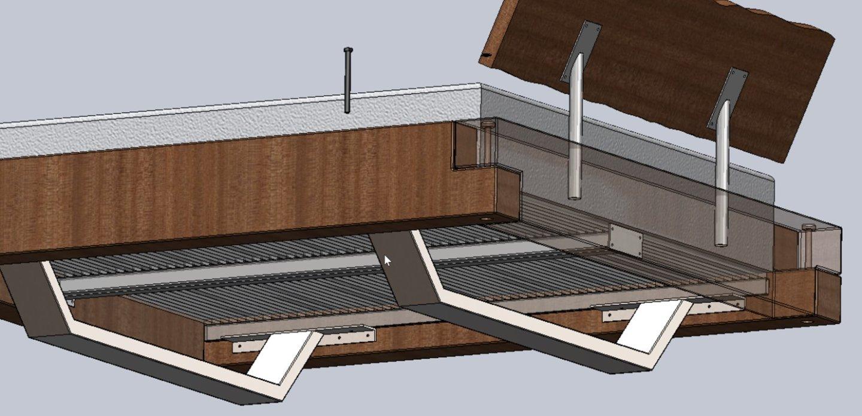 Doppelbett technische Zeichnung
