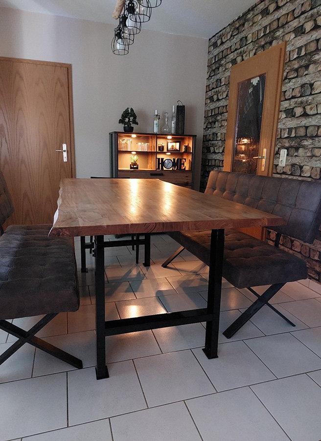Esstisch höhenverstellbare Tischfüße