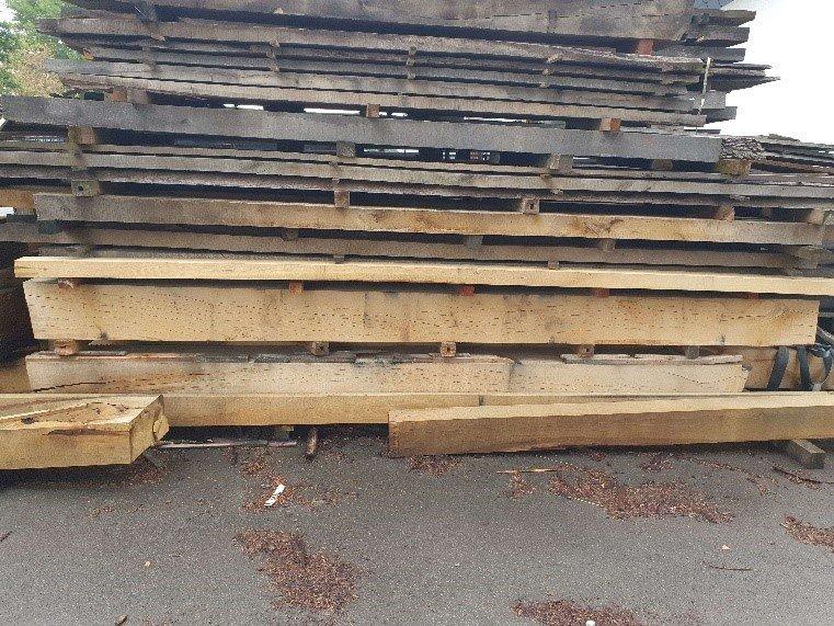 Holzstapel Sägewerk