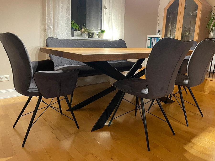 Tischgestell Spider schwarz matt