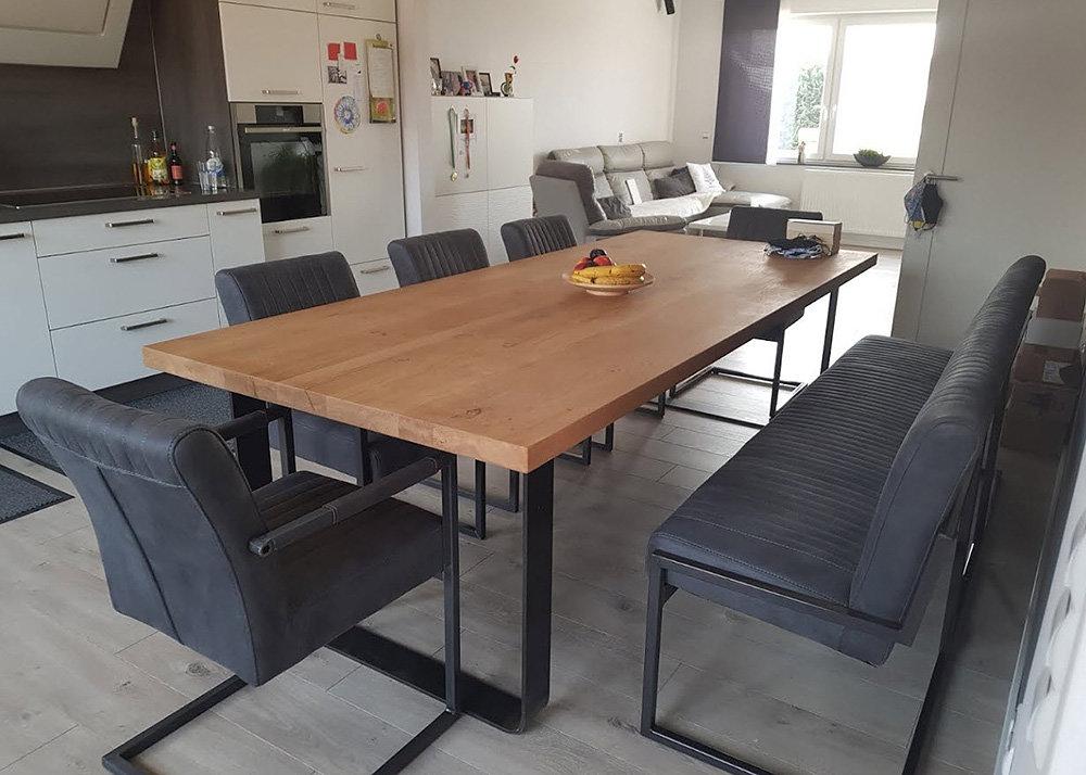 Tischgestell Industrie Stahl roh