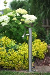 Wassersäule SRG 650 mm Edelstahl V2A Bewässerung Zapfstelle Zapfsäule Gartenschlauch Spender