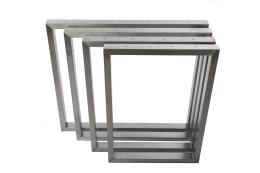 Tischgestell Edelstahl TRG 50x30 600 Untergestell Kufen Tischuntergestell, 2 Stk