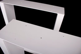 Tischgestell weiß TUGw-600 breit Tischuntergestell Tischkufe Kufengestell (1 Paar)