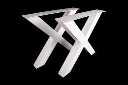 Tischgestell weiß TUXw-690 breit Tischuntergestell Tischkufe Kufengestell (1 Paar)