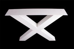 Tischgestell weiß TUXw-890 breit Tischuntergestell Tischkufe Kufengestell (1 Paar)