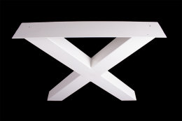 Tischgestell weiß TUXw-990 breit Tischuntergestell Tischkufe Kufengestell (1 Paar)