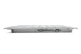 SA-60 Stahl Schachtabdeckung verzinkt begehbar 600 x 600 mm Tränenblech Schachtdeckel Deckel mit Rahmen Kanalschacht quadratisch eckig