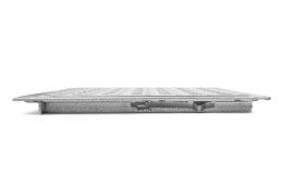 SA-80 Stahl Schachtabdeckung verzinkt begehbar 800 x 800 mm Tränenblech Schachtdeckel Deckel mit Rahmen Kanalschacht quadratisch eckig