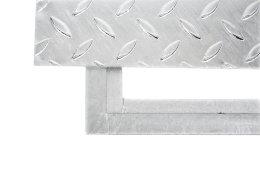 SA-100 Stahl Schachtabdeckung verzinkt begehbar 1000 x 1000 mm Tränenblech Schachtdeckel Deckel mit Rahmen Kanalschacht quadratisch eckig