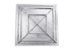 SAB-70 Stahl Schachtabdeckung verzinkt befahrbar 700 x 700 mm Tränenblech Schachtdeckel Deckel mit Rahmen Kanalschacht quadratisch eckig