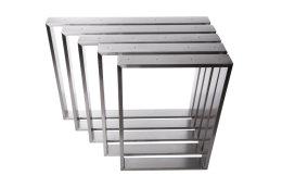 Tischgestell Edelstahl TR 80x20 600 Untergestell Kufen Tischuntergestell Tischkufe Design Tisch Esstisch, 2 Stk