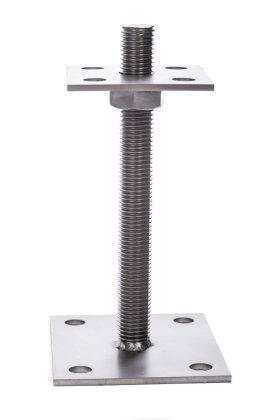 PT130 Pfostenträger höhenverstellbar aus Edelstahl 25-130mm