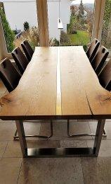 Tischgestell Edelstahl TU 100x40 500-900 mm Untergestell Kufen Tischuntergestell Tischkufe Design Tisch Esstisch