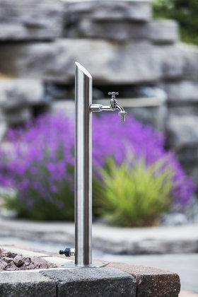 Wassersäule SRS 710 mm Edelstahl V2A Bewässerung Zapfstelle Zapfsäule Gartenschlauch Spender