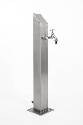 Wassersäule SQS 730 mm Edelstahl V2A Bewässerung Zapfstelle Zapfsäule Gartenschlauch Spender