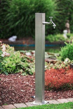 Wassersäule SQG 950 mm Edelstahl V2A Bewässerung Zapfstelle Zapfsäule Gartenschlauch Spender