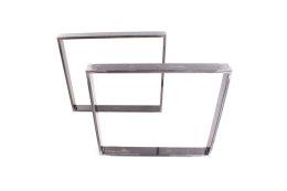 Tischgestell Rohstahl Serie-TR80k Tischuntergestell Tischkufe Kufengestell Profil 80x20 mm