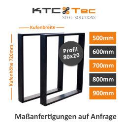 Tischgestell Stahl schwarz Serie-TR80s Tischuntergestell...