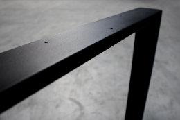 Tischgestell Stahl schwarz matt Serie-TR80sms Tischuntergestell Tischkufe Kufengestell Profil 80x20 mm