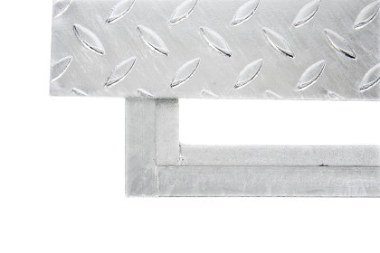 30x30 cm Schachtabdeckung verzinkt begehbar Tränenblech Riffelblech Deckel Stahl