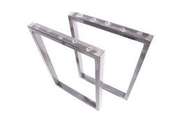 Tischgestell Rohstahl TRGkg 50x30 Tischuntergestell Tischkufe Kufengestell Industrie Klarlack glanz