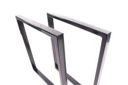 Tischgestell schwarz glanz TRGsg 50x30 Tischuntergestell Tischkufe Kufengestell Industrie
