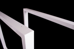 Tischgestell weiß glanz TRGwg Tischuntergestell Tischkufe Kufengestell Industrie