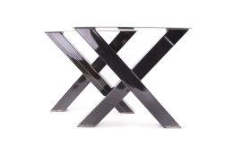 Tischgestell Rohstahl klarlack TUXsm-590 breit Tischuntergestell Tischkufe Kufengestell (1 Rahmen)