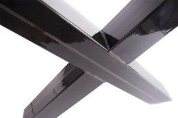 Tischgestell Rohstahl klarlack TUXk-990 breit Tischuntergestell Tischkufe Kufengestell (1 Rahmen)