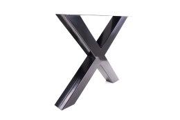 Tischgestell schwarz TUXs-690 breit Tischuntergestell Tischkufe Kufengestell (1 Rahmen)