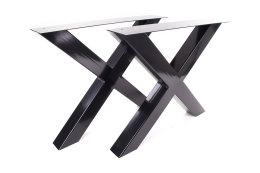 Tischgestell schwarz TUXs-890 breit Tischuntergestell Tischkufe Kufengestell (1 Rahmen)