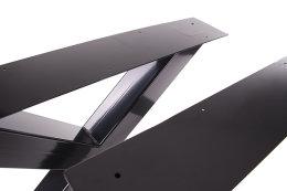 Tischgestell schwarz TUXs-990 breit Tischuntergestell Tischkufe Kufengestell (1 Rahmen)