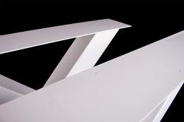 Tischgestell weiß TUXw-590 breit Tischuntergestell Tischkufe Kufengestell (1 Rahmen)