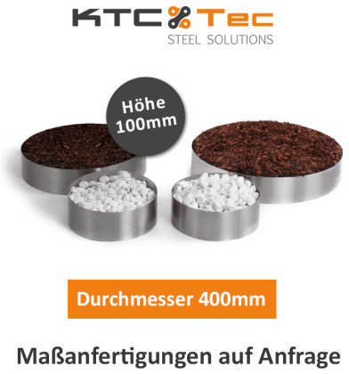 Beetumrandung Pflanzenring Beeteinfassung Edelstahl V2A schraubbar Durchmesser 400mm
