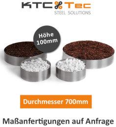 Beetumrandung Pflanzenring Beeteinfassung Edelstahl V2A...