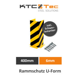 Rammschutz U-Form 400mm 6mm Regalschutz Anfahrschutz...