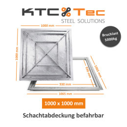 SAB-100 Schachtabdeckung Stahl verzinkt befahrbar...
