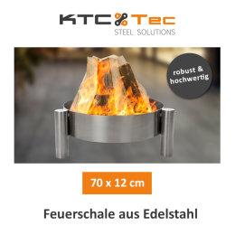 Profi Edelstahl Feuerschale 70 cm Garten Feuerstelle...
