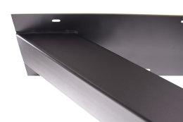 Tischgestell TUXsm Struktur schwarz matt pulverbeschichtet Tischuntergestell Tischkufe Kufengestell