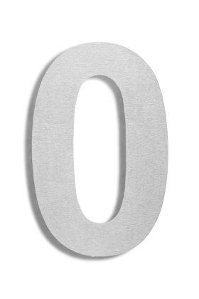 Hausnummer 0 Edelstahl V2A rostfrei 150mm