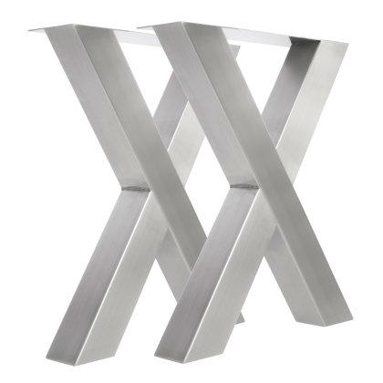 Tischgestell Edelstahl TUX 100x100 590 Kufen Tischuntergestell 600, 2 Stk