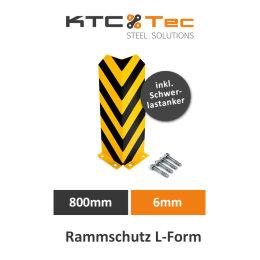 Rammschutz L-Form 800mm 6mm Regalschutz Anfahrschutz...