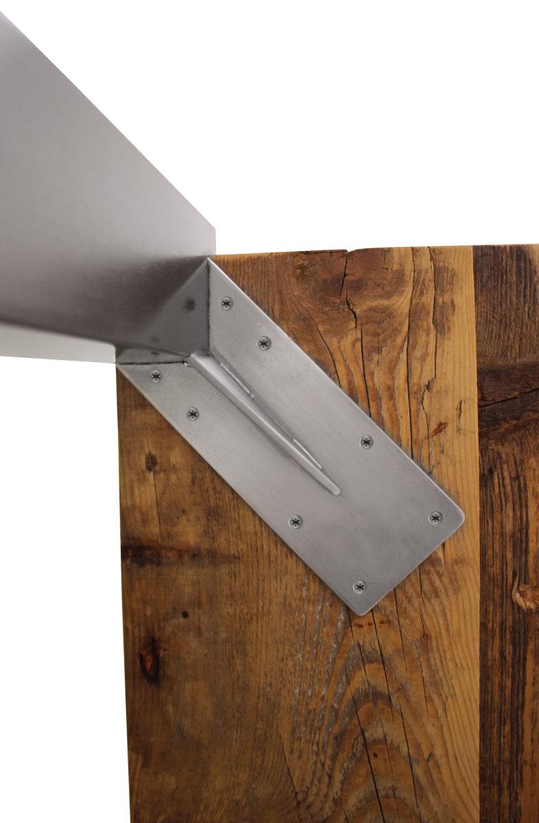 Tischbein edelstahl tbe quadratrohr eingelassen tischfu for Wohnzimmertisch stahl